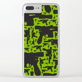Han Solo Blaster Pattern Clear iPhone Case
