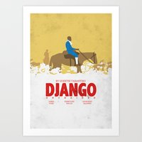 django Art Prints featuring Django by Zhi-Yun