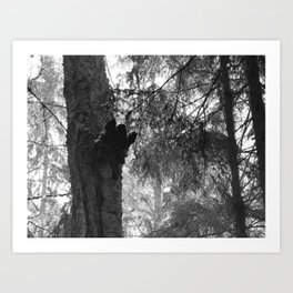 Funny Forest Ghost Art Print