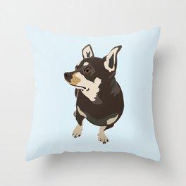 Hopeful Dog Throw Pillow