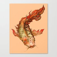 koi Canvas Prints featuring Koi by S.G. DeCarlo
