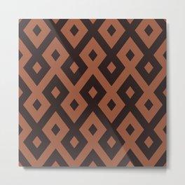 Arabesque Decorative Brown Stirpes Design Metal Print