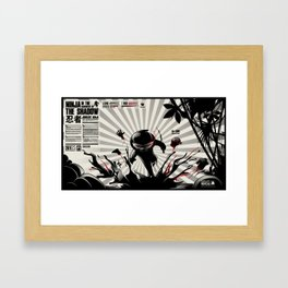 Junglist Ninja Framed Art Print