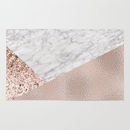 Expensive pink - rose gold marble Rug