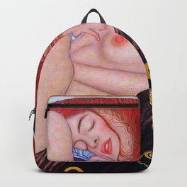 Sleeping girl by Gustav Klimt Backpack