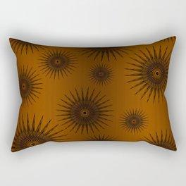 Caramel & Chocolate Star Bursts Rectangular Pillow
