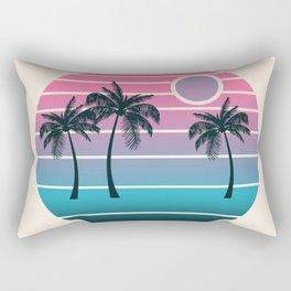 Dude! - retro 70s throwback minimal sunset beach tropical palm trees 1970's minimalism decor socal Rectangular Pillow