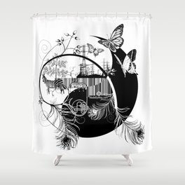 counterbalance Shower Curtain