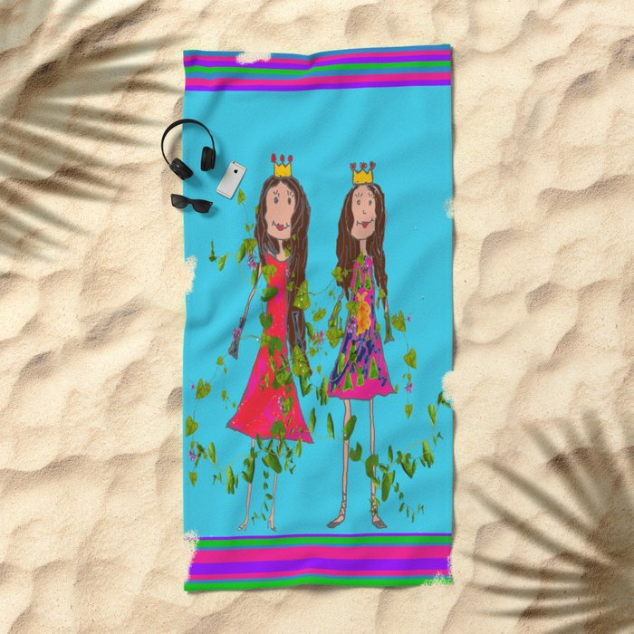GiRL FRiENDS Beach Towel