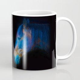 His Quiet Place II - Black Thoroughbred Percheron Coffee Mug
