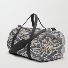 Metallic And Decorative - Grey Monochrome #decor #society6 #buyart Duffle Bag