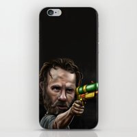 rick grimes iPhone & iPod Skins featuring Rick Grimes by Rob McElhaney