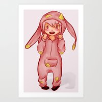onesie Art Prints featuring Onesie by Hetty's Art
