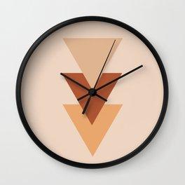 Southwestern Geometric Minimalist 2 in Earth Tones Wall Clock