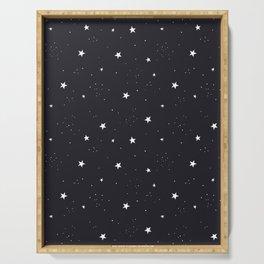 stars pattern Serving Tray