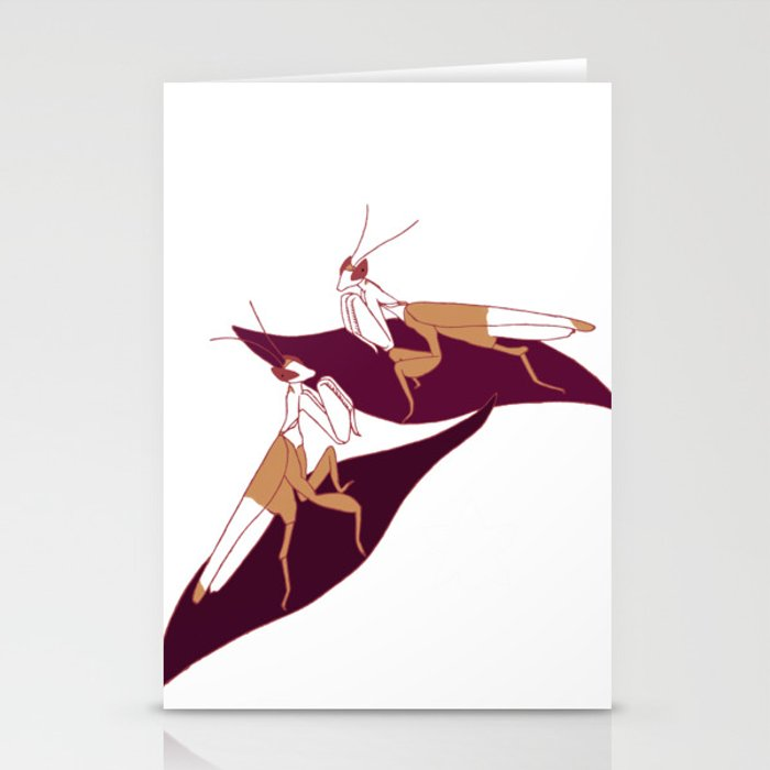 Orchid Mantids Stationery Cards