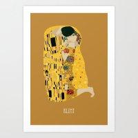 gustav klimt Art Prints featuring klimt by Live It Up