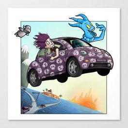 Spook Buggy - Margo and Gaba Canvas Print