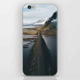 Mountain road in Iceland - Landscape Photography iPhone Skin