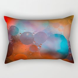 Oil and Water Abstract Rectangular Pillow