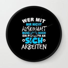 Funny german saying Wall Clock
