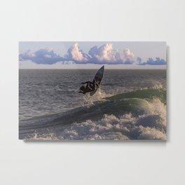 Surfing the Wedge Metal Print