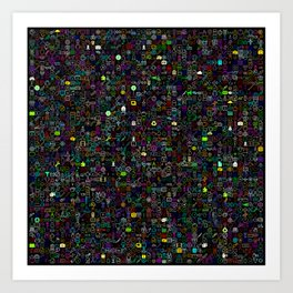Icons Overdrive Multicolor (Black) Art Print