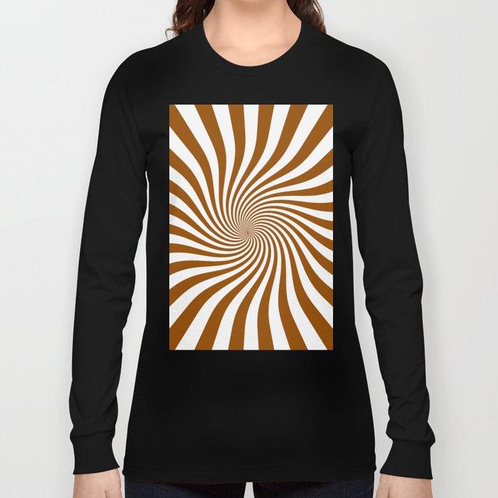 Swirl (Brown/White) Long Sleeve T-shirt