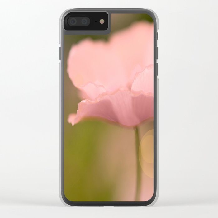 Dreamy Pink Poppy #decor #buyart #society6 Clear iPhone Case