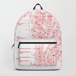 Chambers in Red Backpack