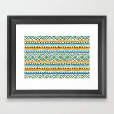 Desert Sunrise Ikat Framed Art Print