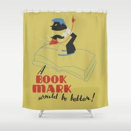 Book Mark Shower Curtain