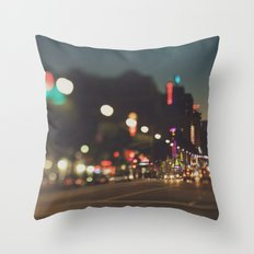Hollywood Boulevard. Los Angeles Throw Pillow