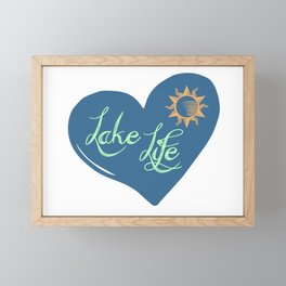 Lake Life Framed Mini Art Print