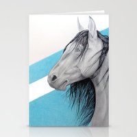 mustang Stationery Cards featuring Mustang by Putrizia Pine