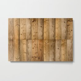 Wood Planks Dark Metal Print