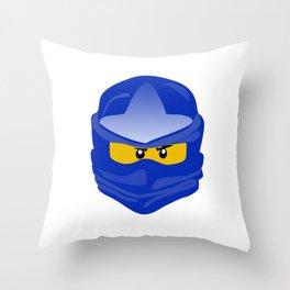 Ninjago face Jay  Throw Pillow