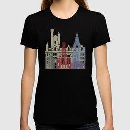 Aberdeen skyline poster T-shirt