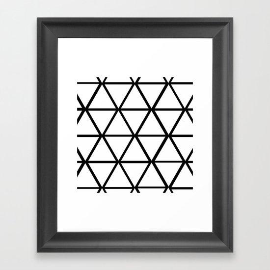 WHITE & BLACK TRIANGLES  Framed Art Print