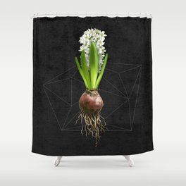 White Hyacinth Hydroponics (tryptic 2/3) Shower Curtain