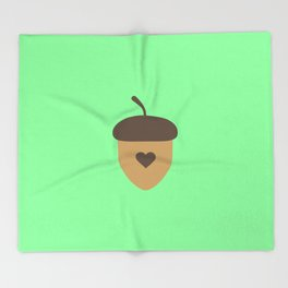 Acorn with heart T-Shirt for Women, Men and Kids Throw Blanket