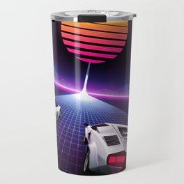 Neon Skyway Travel Mug