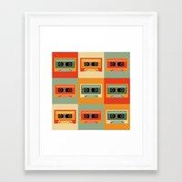 cassette Framed Art Prints featuring cassette by vitamin