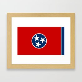 State flag of Tennessee, HQ image Framed Art Print