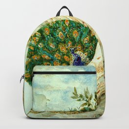 """Gustave Moreau """"The Peacock Complaining to Juno"""" Backpack"""