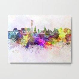 Dundee skyline in watercolor background Metal Print