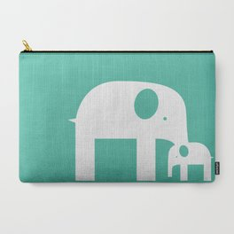 Blue Elephants Carry-All Pouch