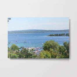 Harbr Springs Bay -View from Bluff (3) Metal Print