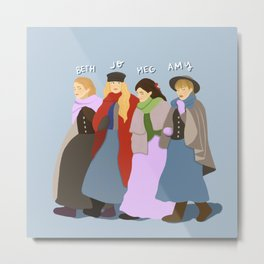 The March Sisters Metal Print
