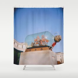 A Ship in a Bottle Shower Curtain